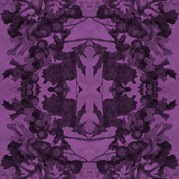 Violet Oak Tree Pattern Poster