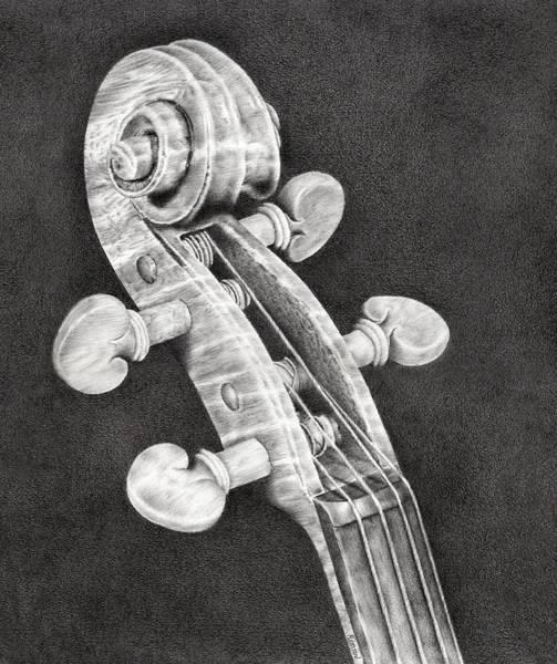 Violin Scroll Poster