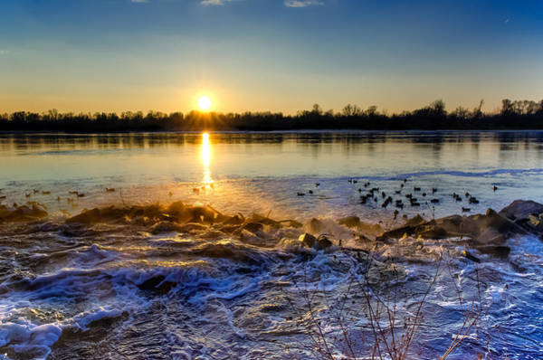 Vistula River Sunset 3 Poster