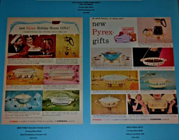 Vitage Ads For Pyrex Ware Poster