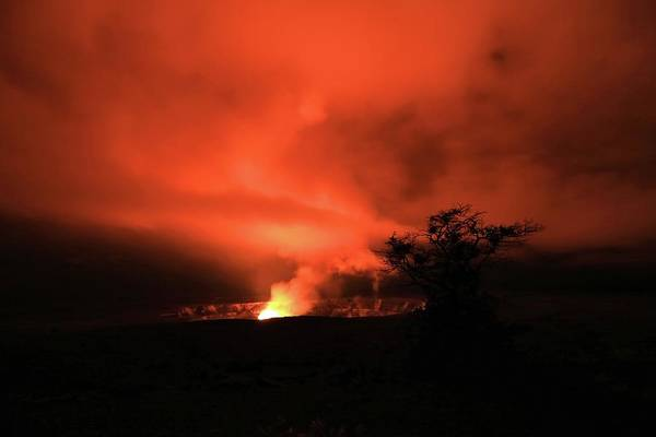 Volcano Under The Mist Poster