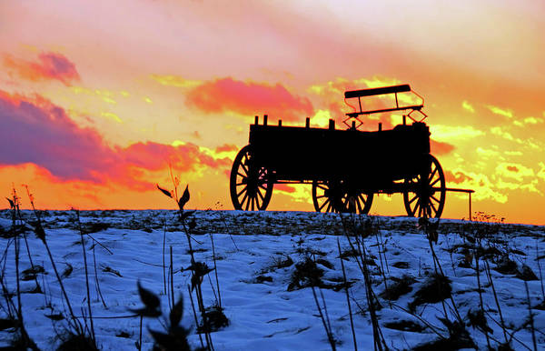 Poster featuring the photograph Wagon Hill At Sunset by Wayne Marshall Chase