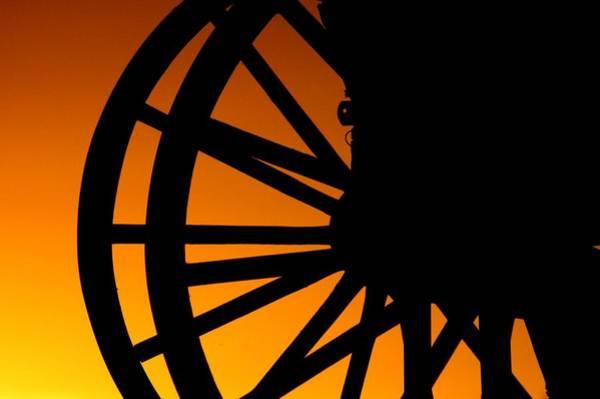 Wagon Wheel Sunset Poster