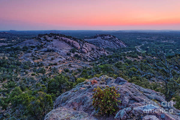 Waiting For Sunrise At Turkey Peak - Enchanted Rock Fredericksburg Texas Hill Country Poster