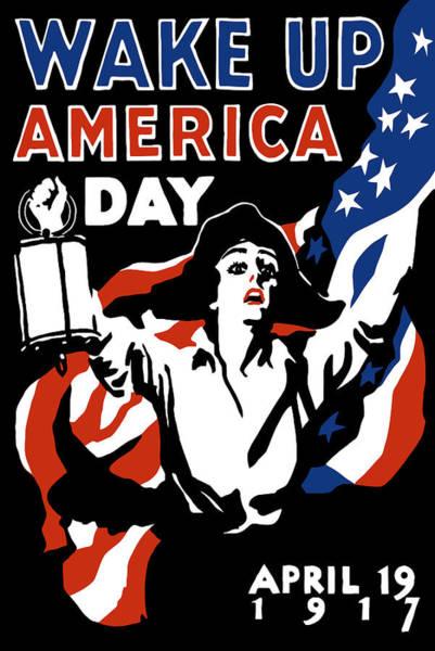 Wake Up America Day - Ww1 Poster