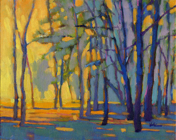 Poster featuring the painting Walk In The Woods 3 by Konnie Kim