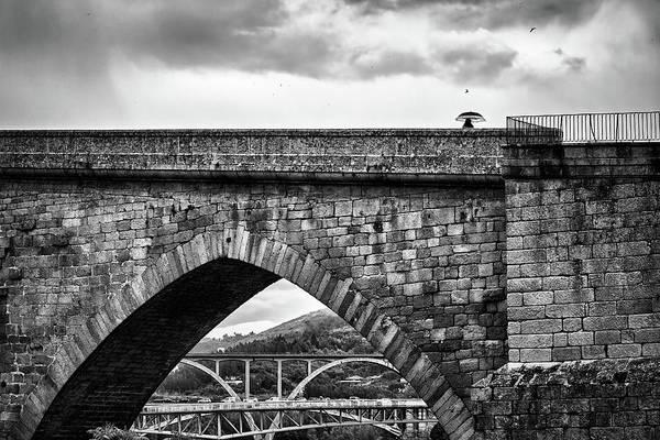 Walking On The Roman Bridge Poster