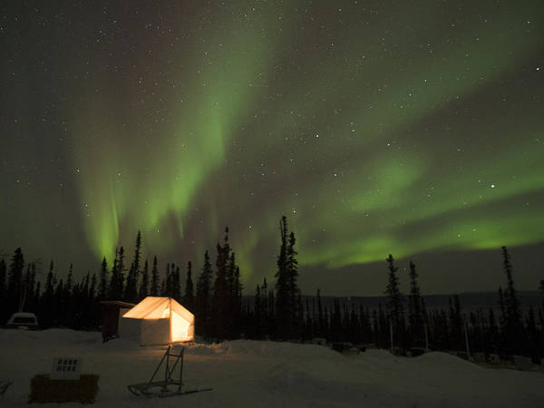 Wall Tents And Aurora Poster