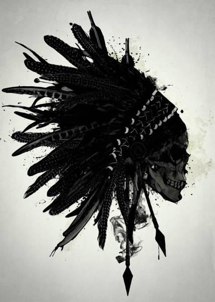Warbonnet Skull Poster