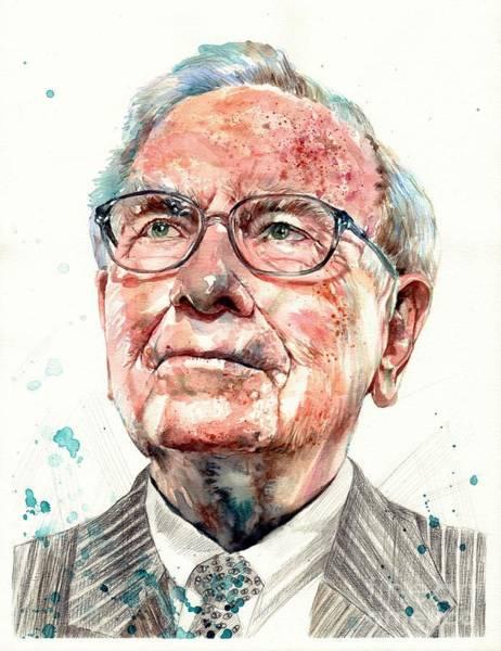 Warren Buffett Portrait Poster