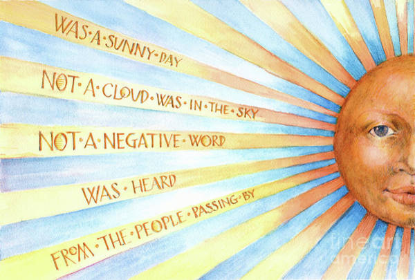 Was A Sunny Day Poster