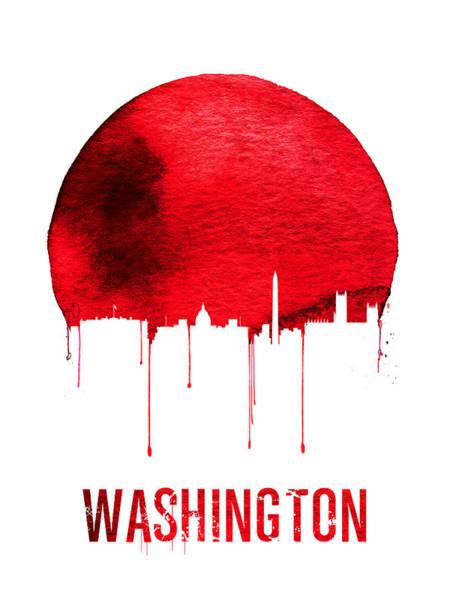 Washington Skyline Red Poster
