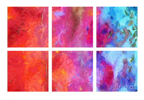 Water And Fire Abstract Poster
