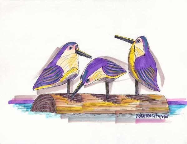 Water Fowl Motif #2 Poster