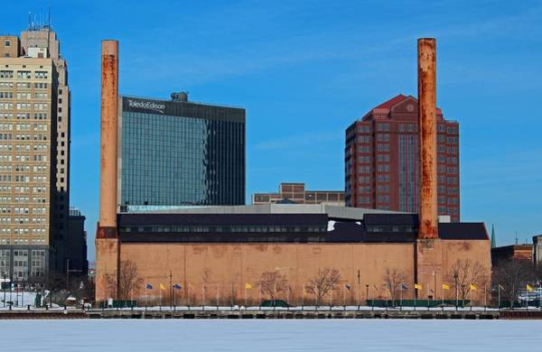 Water Street Steam Plant In Winter Poster