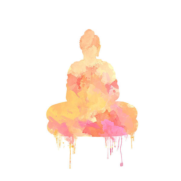 Watercolor Buddha Art Poster