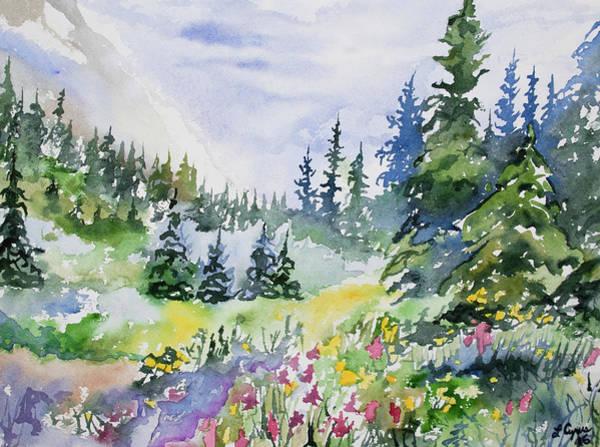 Watercolor - Colorado Summer Scene Poster