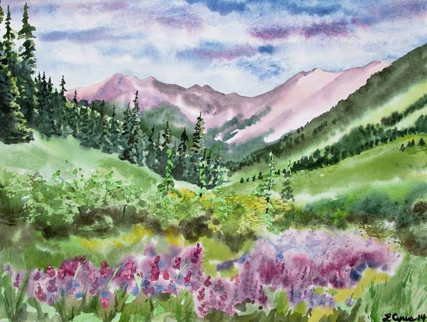 Watercolor - San Juans Mountain Landscape Poster