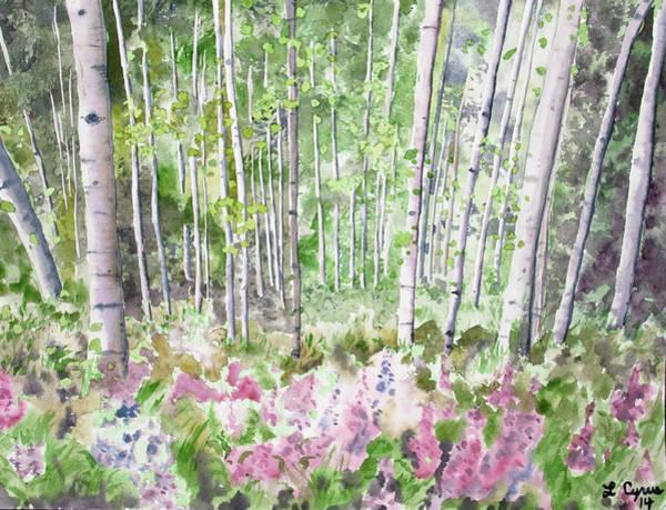 Watercolor - Summer Aspen Glade Poster