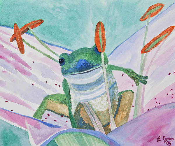 Watercolor - Tree Frog Poster