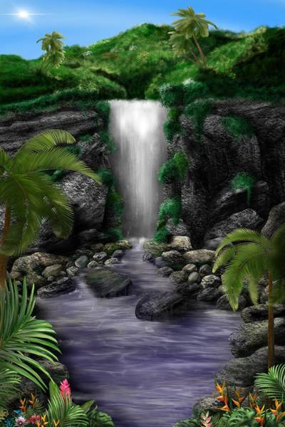 Waterfall Creek Poster