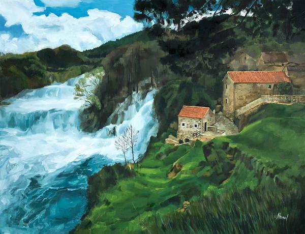Waterfall In Krka Poster