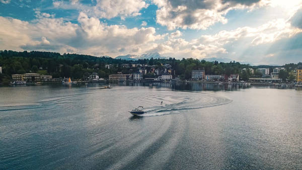 Waterskiing In Velden Am Worthersee Poster