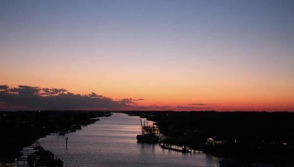 Waterway Sunset #1 Poster