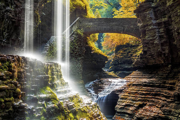Poster featuring the photograph Watkins Glen State Park by Mihai Andritoiu