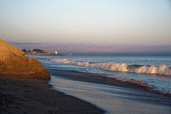 Waves At Santa Cruz Poster