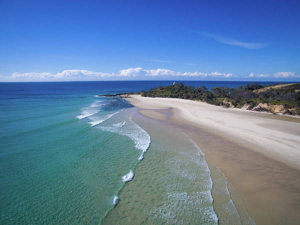 Waves Rolling In To North Point Beach On Moreton Island Poster