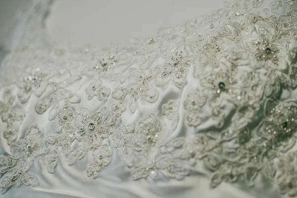 Wedding Dress Floral Beadwork Poster
