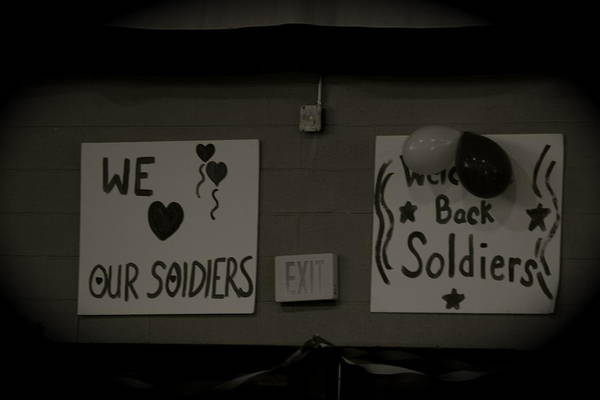 Welcome Home Soldiers Poster