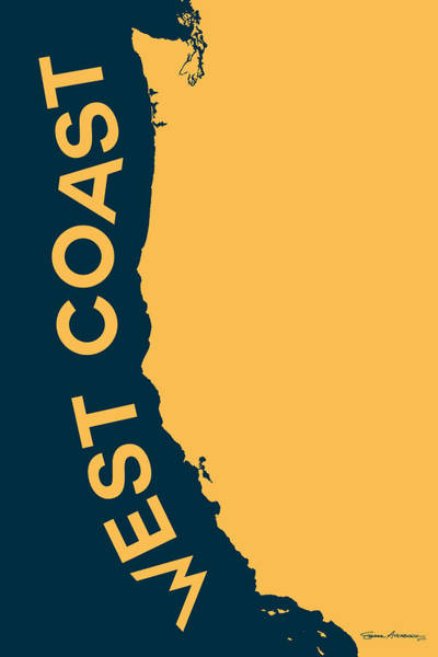 West Coast Pop Art - Golden Yellow On Cyprus  Poster