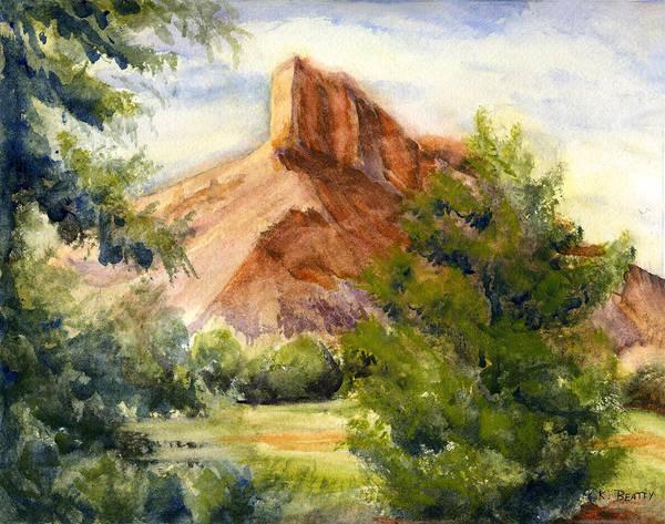 Western Landscape Watercolor Poster