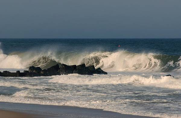 When The Ocean Speaks - Jersey Shore Poster