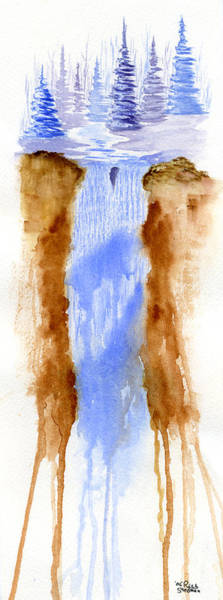 Poster featuring the painting Whispering Falls by Rich Stedman