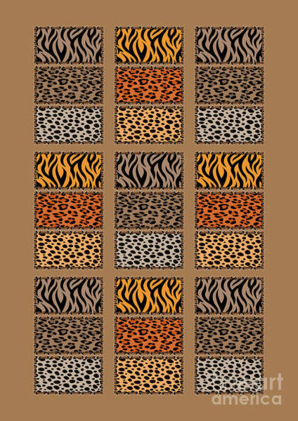 Wild Cats Patchwork Poster
