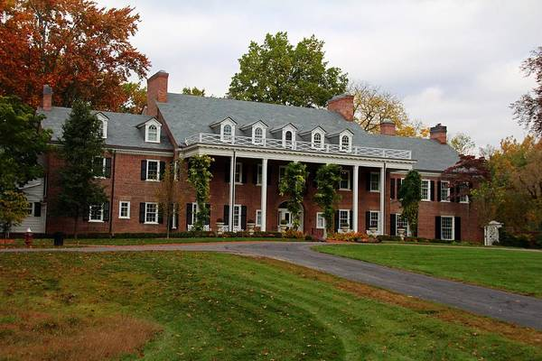 Wildwood Manor House In The Fall Poster