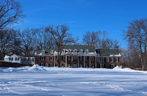 Wildwood Manor House In The Winter Poster