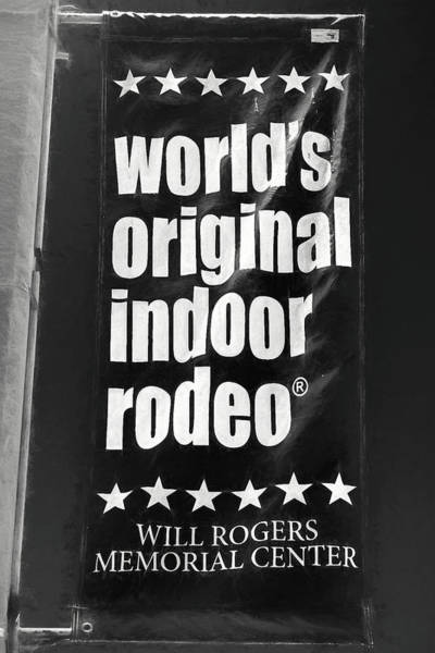 Will Rogers Rodeo Bw Poster