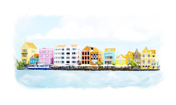 Willemstad Curacao Skyline Poster