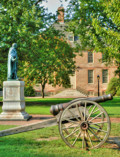Poster featuring the photograph Williamsburg Cannon by Sam Davis Johnson