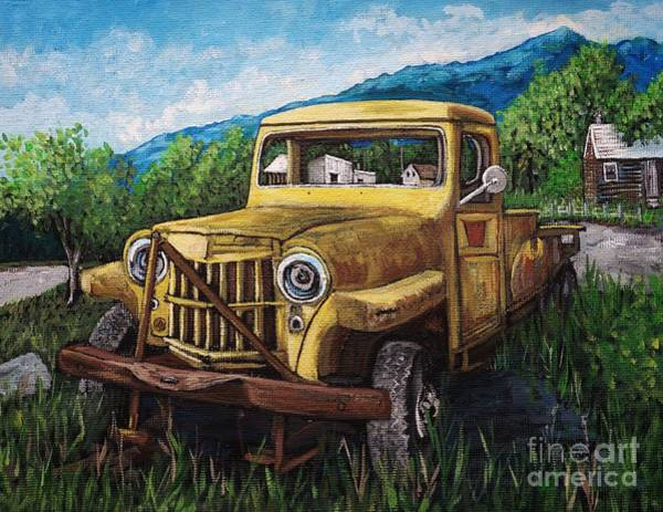 Willys Jeep Pick Up Poster