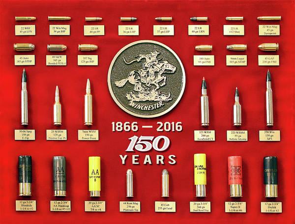 Winchester 150th Anniversary Commemorative Cartridge Board Poster
