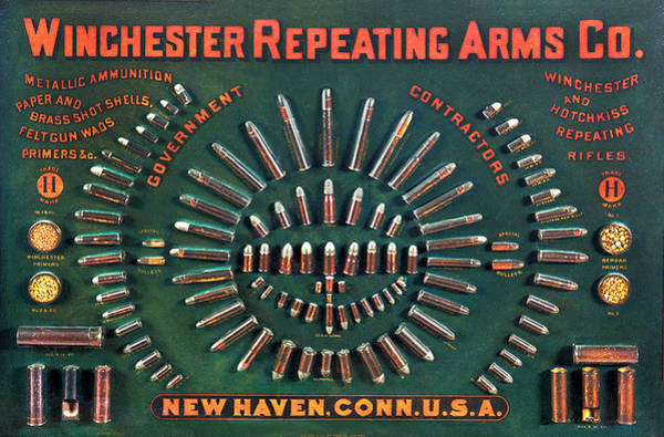 Winchester 1884 Cartridge Board Poster