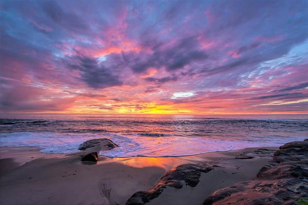 Windansea Beach Sunset Poster