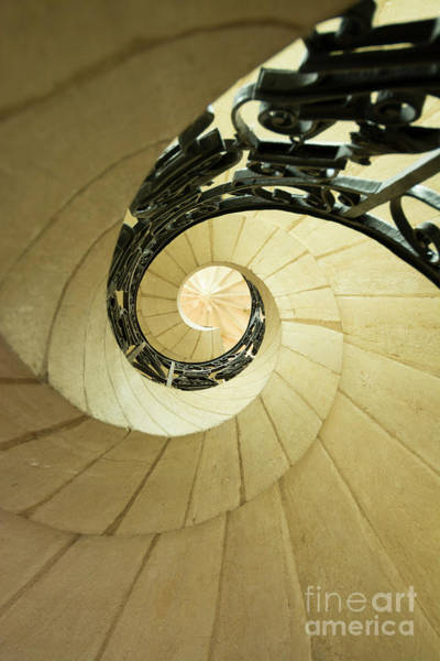 Winding Staircase. France. Europe. Poster