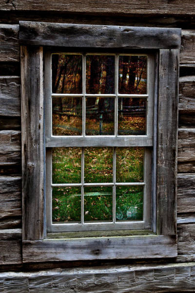 Window Reflection At Mabry Mill Poster