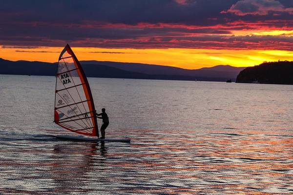 Windsurfing Lake Champlain Poster